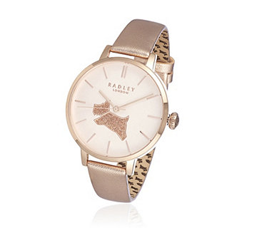 Radley London Sparkly Dog Leather Strap Watch - 323530