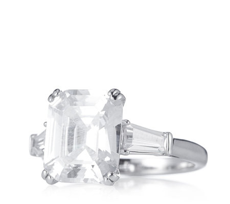 Elizabeth Taylor 7.2ct tw Simulated Diamond Asscher Cut Ring