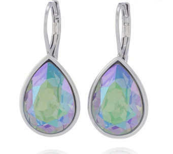 Aurora Swarovski Crystal Pear Drop Leverback Earrings - 309931