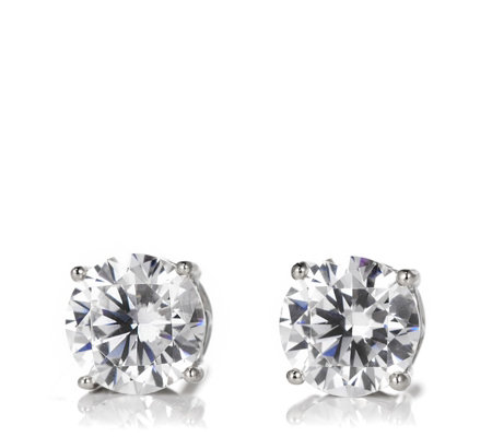 Diamonique 1.8ct tw Heart Gallery Stud Earrings Sterling Silver