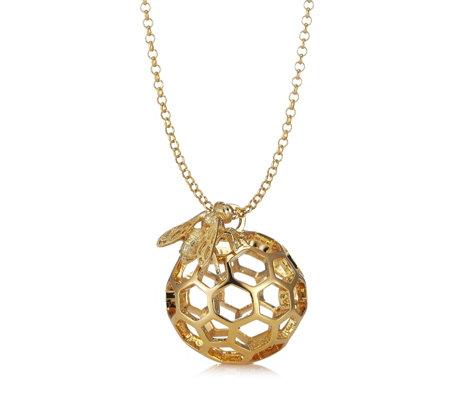 Bill skinner honeycomb bee pendant long 80cm chain necklace page bill skinner honeycomb bee pendant long 80cm chain necklace aloadofball Gallery