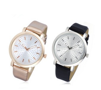Gossip Set of 2 Pave Dial Watches - 307233