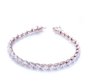 Michelle Mone for Diamonique 22ct tw Marquise 18cm Bracelet Sterling Silver - 308233