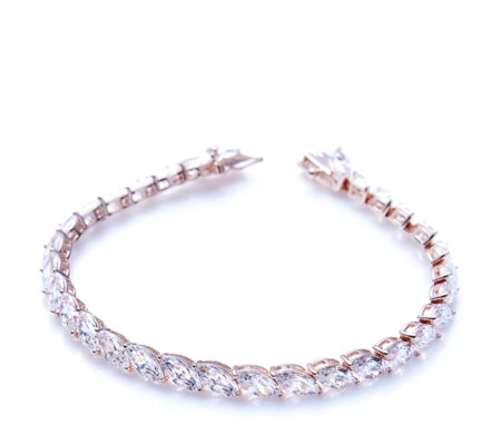 Michelle Mone for Diamonique 22ct tw Marquise 18cm Bracelet Sterling Silver