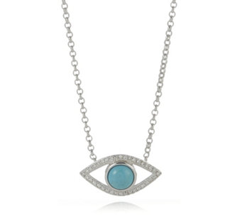 Lisa Snowdon I See You Diamond & Turquoise Necklace Sterling Silver - 310033