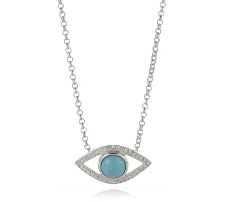 Lisa Snowdon I See You Diamond & Turquoise Necklace Sterling Silver