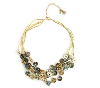 Lonna & Lilly Shell & Abalone 45cm Necklace - 308934