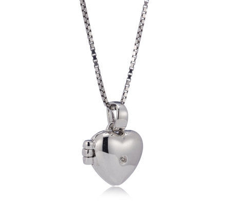 locket gold dp necklace accent heart with quot white diamond