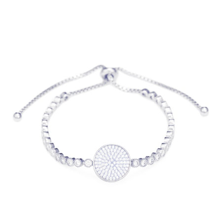 Frank Usher Crystal Pave Disc Friendship Bracelet