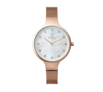 Obaku Ladies Sky Mesh Strap Watch - 316035