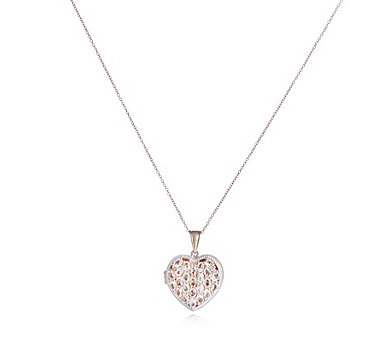3.6ct Morganite Heart Locket & Chain Rose Gold Vermeil Sterling Silver - 309036
