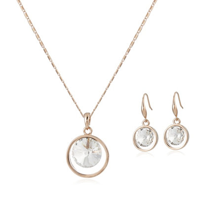 Outlet Frank Usher Crystal Earring & Necklace Set
