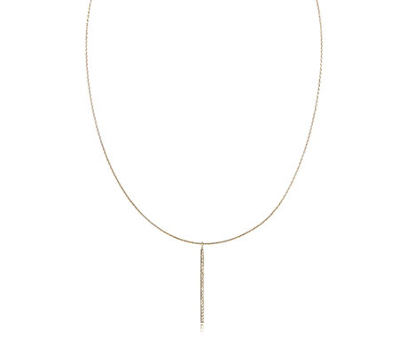 9ct Gold Omega Necklace with Bar Drop Pendant