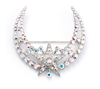 Butler and Wilson Couture Crystal Moon & Star Brooch - 308437