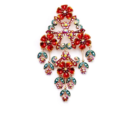 Butler and Wilson Couture Crystal Flowers Brooch
