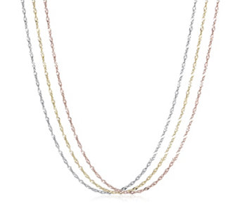 9ct Gold Set of 3 45cm Singapore Chains - 308339