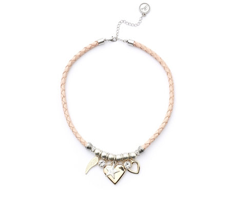 """As Is"" Bibi Bijoux Leather Charm 51cm Necklace"