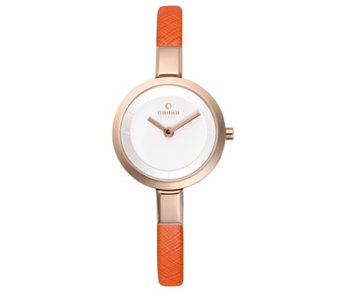 Obaku Ladies Siv Leather Strap Watch - 316139