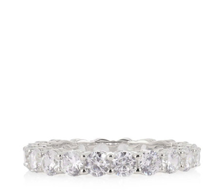 Michelle Mone for Diamonique 3ct tw Eternity Ring Sterling Silver