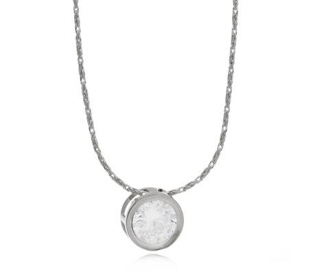 Diamonique 15ct tw bezel set pendant 45cm chain sterling silver diamonique 15ct tw bezel set pendant 45cm chain sterling silver aloadofball Choice Image