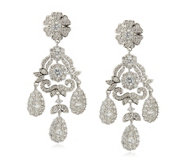 Elizabeth Taylor 12.4ct tw Simulated Diamond Parisian Earrings