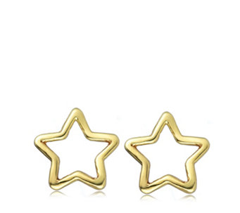 9ct Gold Star Openwork Earrings - 306841