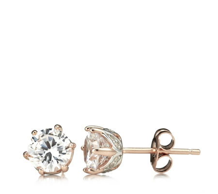 Diamonique 2ct tw Ultimate Glamour Stud Earrings Sterling Silver