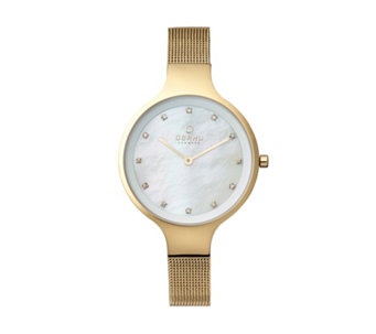 Obaku Ladies Sky Mesh Strap Watch - 316042