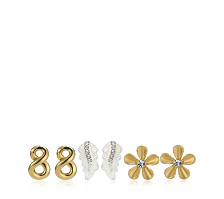 Roberto by RFM Signature Set of 3 Stud Earrings