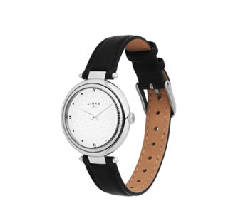 Links of London Timeless Ladies Sunray Dial Leather Strap Watch - 311243