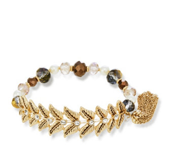 Lonna & Lilly Floral Bead Stretch Bracelet - 312443