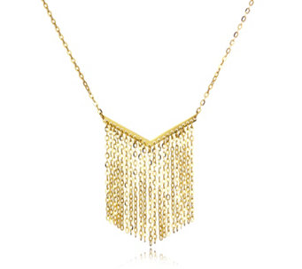 9ct Gold Forzatina Fringe 45cm Necklace - 306845