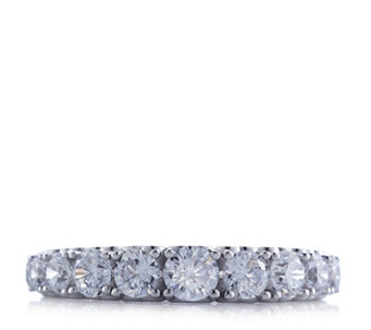 Michelle Mone for Diamonique 1.3ct tw Half Eternity Ring Sterling Silver - 308645