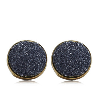 9ct Stardust Button Stud Earrings - 312645