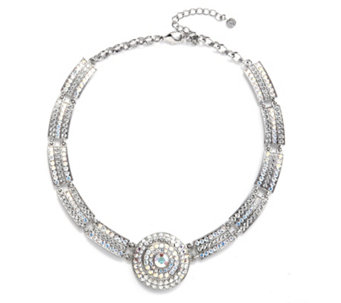 Butler & Wilson Crystal Segment & Circle 39cm Necklace - 301246