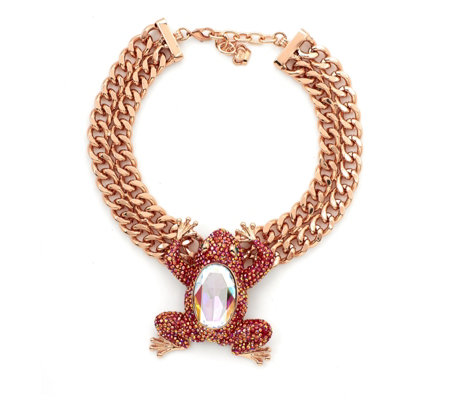 Butler & Wilson Couture Frog Chain 35cm Necklace