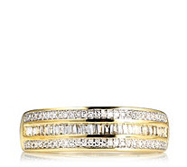 0.25ct Diamond Baguette & Round Cut Band Ring 9ct Gold - 320246