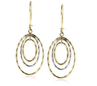 9ct Gold Drop Circle Earrings - 306147