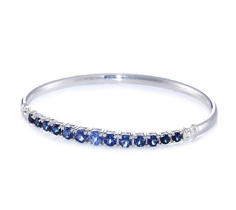 Diamonique 3.5ct tw Graduating Bangle Sterling Silver - 307947