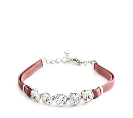 Aurora Swarovski Crystal Leather Bracelet