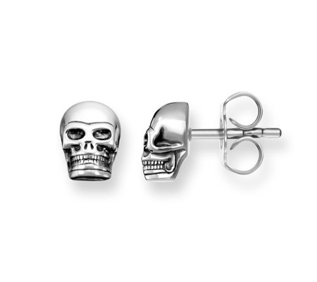 Thomas Sabo Rebel At Heart Skull Stud Earrings Sterling Silver