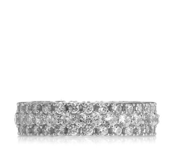 Michelle Mone for Diamonique 1.5ct Chevron Eternity Ring Sterling Silver - 309451