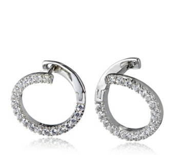 Diamonique 0.4ct tw Front to Back Circle Earrings Sterling Silver - 309851
