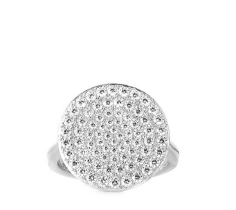 Diamonique 1.2ct tw Pave Disc Ring Sterling Silver - 306152