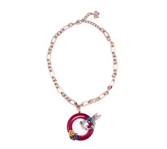 Butler & Wilson Crystal Bird & Flowers 42cm Necklace - 308453