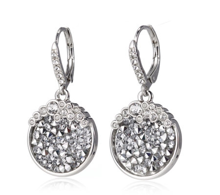 Crystal Glamour with Swarovski Crystals Fine Rocks Leverback Earrings