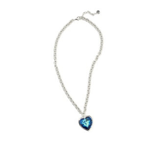 Crystal Glamour with Swarovski Crystals Heart 50cm Necklace - 317553