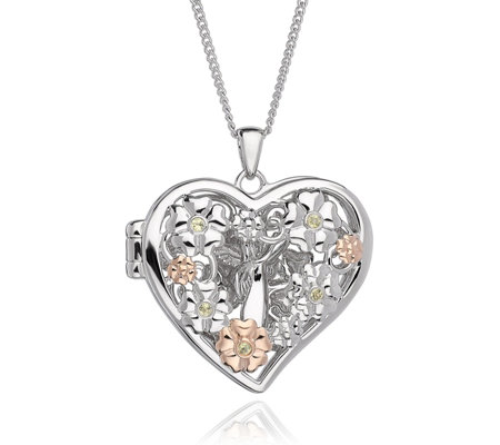 Clogau 9ct Rose Gold & Sterling Silver Fairy Pendant 56cm