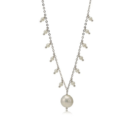 Honora Cultured Ming Pearl Pendant Charm & 50cm Necklace Sterling Silver
