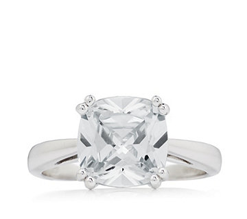 Diamonique 4.5ct tw Cushion Cut Ring Sterling Silver - 321754